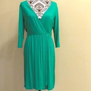 Kenar Wrap Green Dress Sz M